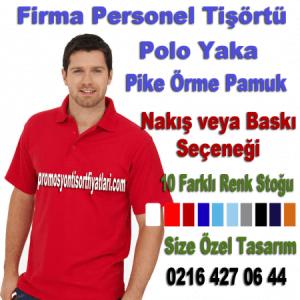 Logo nakış baskılı Promosyon polo yaka tişört