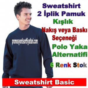 Sweatshirt şirket logolu promosyon